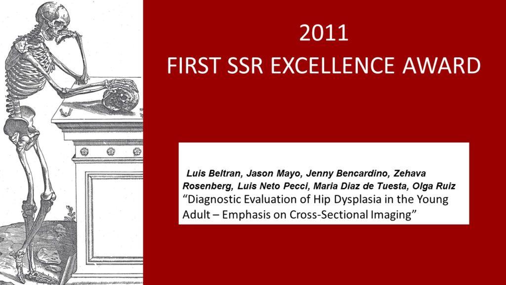2011 SSR AWARD